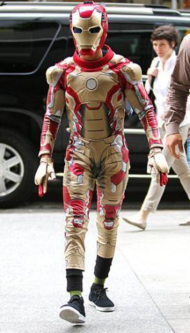 Will Smith's son,Jaden,in an Iron Man costume