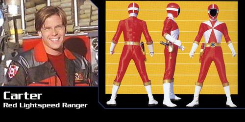 Sean Cw Johnson as Carter Grayson,the red ranger in Power Rangers Lightspeed