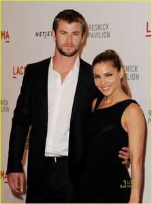 my Aussie hottie,Chris with his wife,Elsa<3