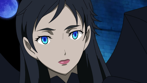 i pag-ibig diva-she has a blue eyes then glows when fighting....
