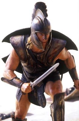 Brad Pitt in Troy with a sword