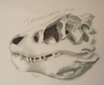 i rlly wanna post my t-rex skull painting