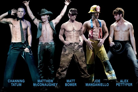 Magic Mike cast. Too many hotties in one picture!