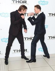 Chris Hemsworth and Tom Hiddleston<3