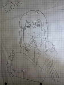 Echo from Pandora Hearts ^^ but this is one of the first Manga that I've ever draw, so it's not so good. Hope anda like it ^^