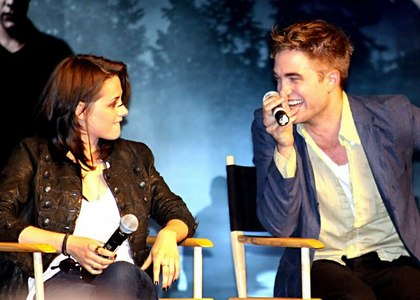 my handsome baby having fun with Kristen at the Eclipse L.A. Convention<3
