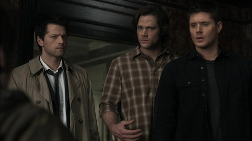 Jensen Ackles with Jared Padalecki and Misha Collins from অতিপ্রাকৃতিক