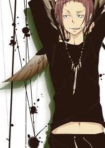 Niizuma Eiji from Bakuman :P I amor him so much; he's so eccentric!
