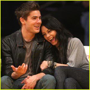 Zac & Vanessa giggling :)