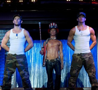 Alex, Matthew and Channing in Magic Mike