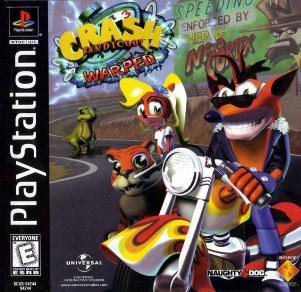 Crash Bandicoot, The first game I played was Warped and My first complete level was the saat one :) I still own a copy today! :D