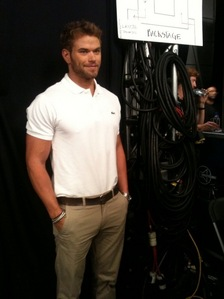 Kellan wearing a belt<3