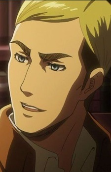 Erwin from Attack on titan has a mature voice. [the voice actor is the same as Sebastian from Kuroshitsuji]