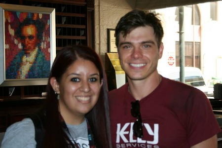 Matthew with a fan :)