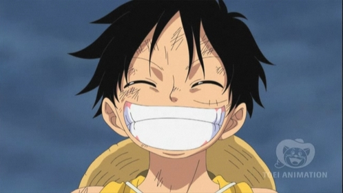 Monkey.D.Luffy (One Piece) Luffy is childlike ........ he can be very naïve in some respects, particularly in response to romance and other serious situations..........he he he he