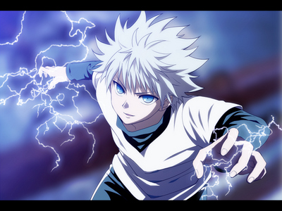 Killua Zoldyck.. he's my favorite.. not only in 'hunter x hunter', but in all.. I Cinta him so much.. He's lebih charming in the series of the Anime made in 2011 in comparison to the 1999 one..