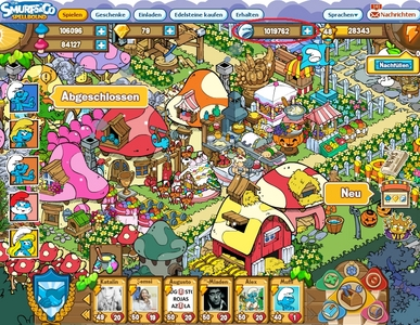 ....Erm, this is the only picture on my desktop (my Chrome Browser is blocking my desktop picture, so yeah, this is the first picture I see lol. Its a screenshot of my town in The Smurfs & Co 2: Spellbound).