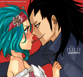 Gajeel and Levy >.<