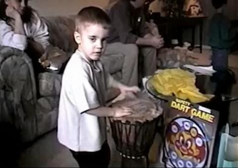 Justin with bongos!