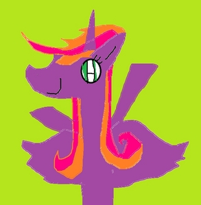 Check it.(That is not my name.) Name: Honeybloom Alicorn Piano orange and rosa Animal shelter