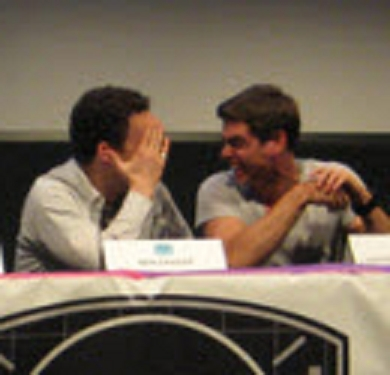 Matthew and his close friend, BMW co nyota Ben Savage, cracking up XD