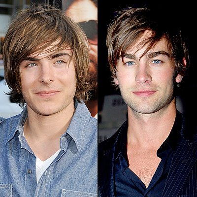A lot of people think Zac Efron and Chace Crawford look alike. I see a small resemblance.