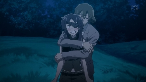 "Mirai nikki---ninth and her lover i প্রণয় when they সেকেন্ড meet at the hospital.....they very funny but i swear they really cute couple and so romantic im blushing while watching them...... in episode 20 the guy proposal ninth....kyaaaaaaa.....i cant believe it...... the most পছন্দ dialog ""Please ভালুক my child"".. ""If i destroy that computer..You're mine""....ahahahha and the last episode ninth married...and the guy give her kiss.....ahhhhhhh im so blushing"