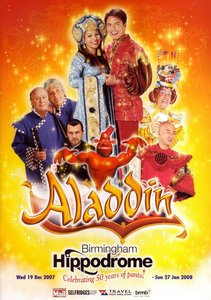John on a Aladdin poster!
