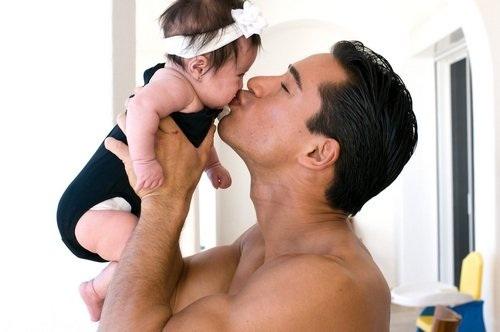 Mario and his daughter Gia as a baby
