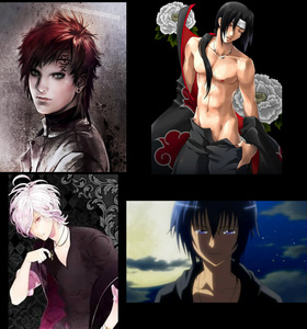 I honestly can't choose between Gaara and Itachi from Naruto, Subaru from Diabolik Lovers, and Ikuto from Shugo Chara!... I think it depends on the দিন হাঃ হাঃ হাঃ