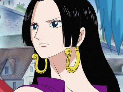 """boa Hancock (One Piece) She is a princess from amazon Lily......snake princess.......she is also known as Pirate Empress...... she is (6'3¼"""") tall.....he he eh eh"""