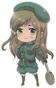 I believe Hungary/Isabella from Hetalia is a strong character since she obviously can take ZE AWESOME PRUSSIA. And yah...