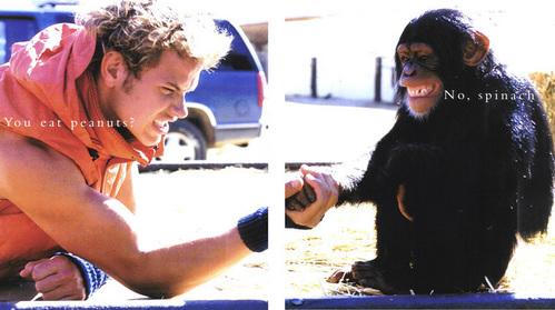 Kellan arm wrestling with a monkey...lol<3