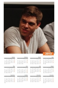 My sweetie on a calendar :)