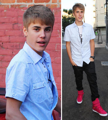 the Biebster in roze shoes<3