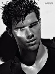 Taylor Lautner with a shadow on his face<3