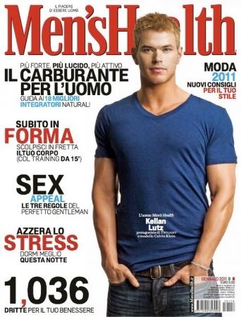 Kellan on the cover of Men's Health<3