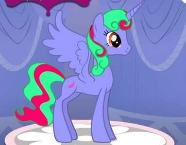 I already have a place for most of my alicorns, but I guess I could make one and put her here. Name: Princess Wyndia Gender: Mare Cutie Mark: Feather Hobby: Doing aerial tricks Special fact: She's always had a প্রণয় for fashion, like Rarity.