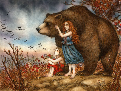 The bear/prince from Snow White and Rose Red to be Ruby's new tình yêu interest. I'd also like to see Rapunzel.