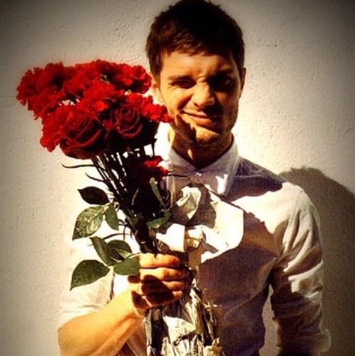Jamie with flowers<3