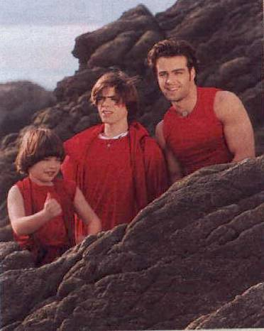 The 3 brothers on a big rock with small rocks around them :)