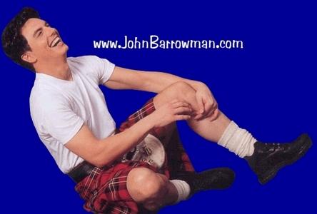 John wearing a kilt!