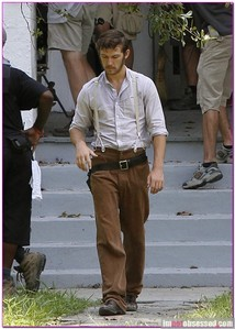 Alex Pettyfer on the set of The Butler