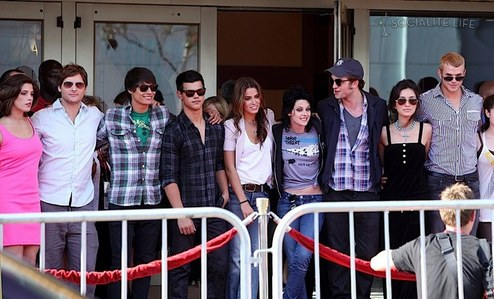 my beautiful baby with some of his Twilight saga co-stars in my hometown,San Diego in 2009<3