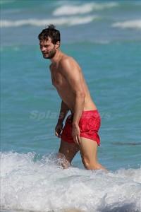 the sexy Jamie Dornan at the beach<3