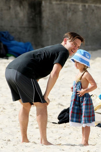 Tobey with his daughter,Ruby