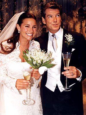 Pierce Brosnan wearing his wedding suit <3