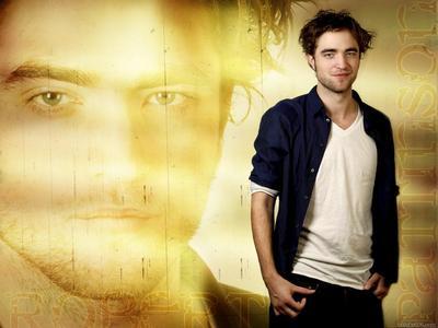 my beautiful Robert with a yellowish background<3