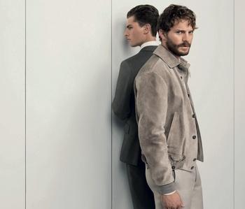 Jamie wearing a jacket<3