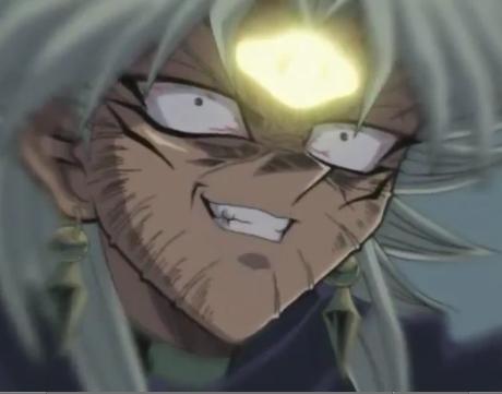 Alrighty! Here's Dark Marik in Yu-Gi-Oh! Smirking! Him and Marik well Marik to a point but him-he smirks a lot!